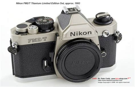 nikon fm2 series special edition models nikon fm2 t limited edition set