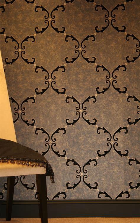 gold velvet wallpaper uk trellis scroll flocked wallpaper crystallised by kandola