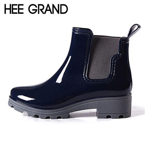 Promo Sandal Wedges Rubber Sepatu Cewe Best Seller Murah hee grand platform boots rubber ankle rainboots low heels slip on pumps shoes