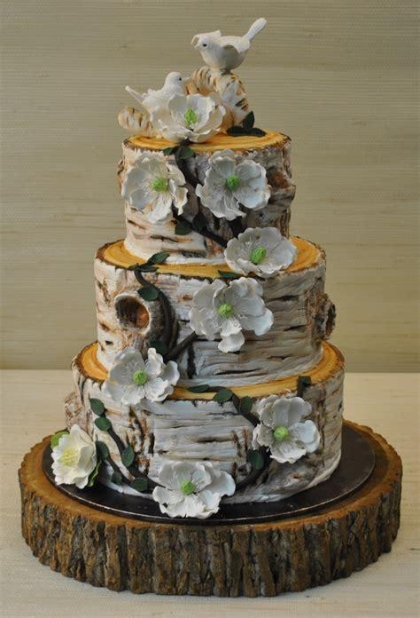 Rustic Tree Wedding Cake