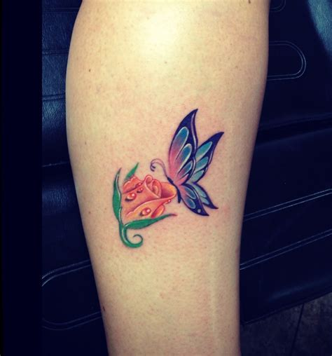 rose tattoo colors butterfly and color tattoos by tyson