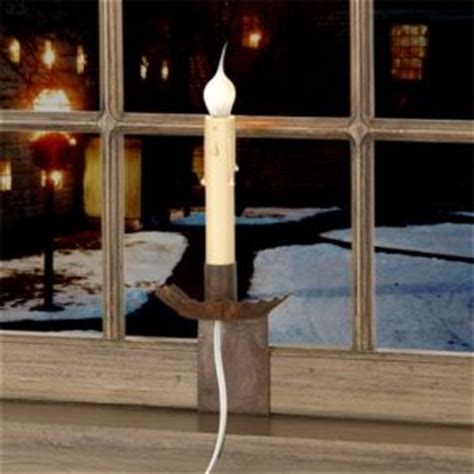 Window Candle Light W Raised Crimped Pan In Rustic Tin