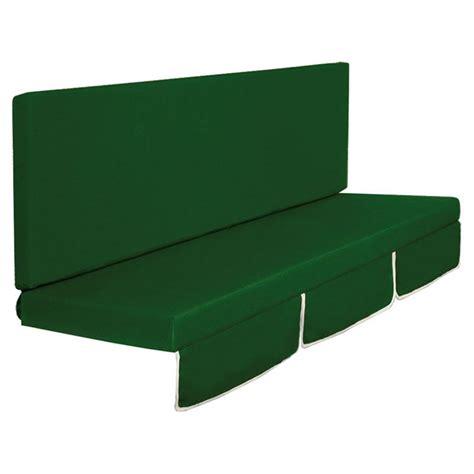 cuscini per dondolo cuscino dondolo mod larice a 2 o 3 posti colore verde o