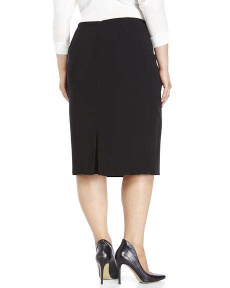yal new york plus size black pencil skirt shop s