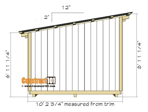 lean  shed plans construct lean  shed