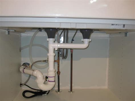 plumbing kitchen sink plumbing an ikea domsjo 36 quot double sink paul renie s