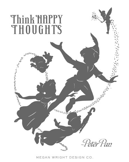 Peter Pan Silhouette Print I Designed For Baby Wright Can Pan Silhouette Template