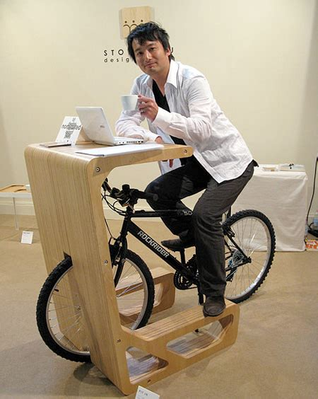 Stationary Bike For Desk by Bicycle Desk