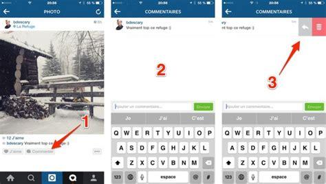 instagram comment supprimer lun de vos commentaires