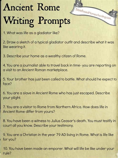 Essay About Rome by Free Ancient Rome Writing Prompts Printable Ancient Rome Writing Prompts And Prompts