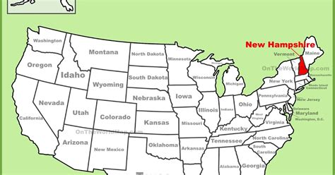 new hshire location usa map map of new hshire state map of america