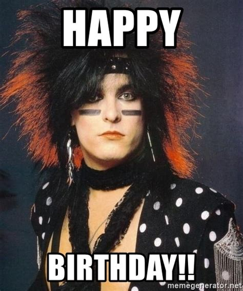 Meme Generator Happy Birthday - happy birthday nikki sixx meme generator