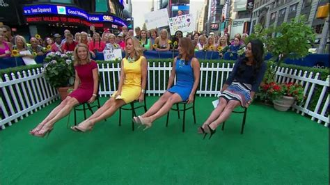 on gma shows ginger zee amy robach legs high heels ginger zee legs maxresdefault jpg television