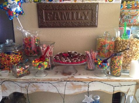party themes for 18th my son s 18th birthday candy bar birthday party ideas
