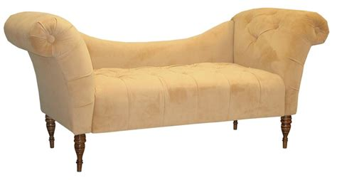 velvet tufted chaise skyline furniture tufted chaise lounge in velvet honey