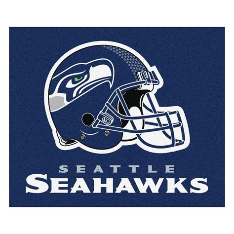 seahawks rug fanmats seattle seahawks 5 ft x 6 ft tailgater rug 5947 the home depot