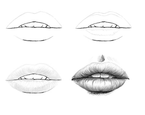 tutorial drawing sketchbook sketch tutorials lips 4 steps by laiany on deviantart
