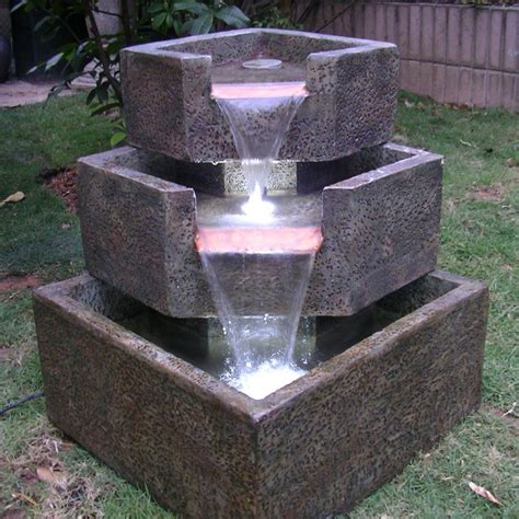 backyard fountains 20 solar water ideas for your garden garden