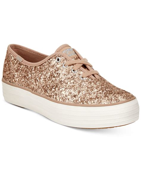 womens glitter sneakers keds s glitter lace up flatform sneakers in