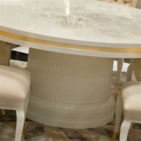 lacquered dining tables high end modern ivory lacquered dining table set