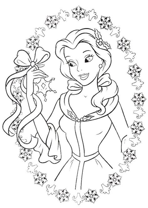 belle christmas coloring pages disney christmas coloring sheets