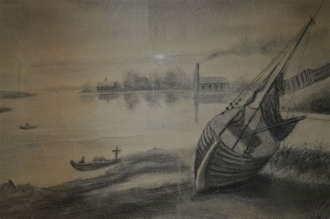 boat charcoal drawing awesome original charcoal drawing of boats and sea shore