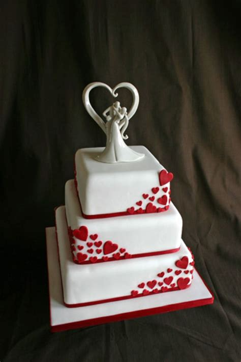 Wedding Day Cake by Valentines Day Wedding Cake