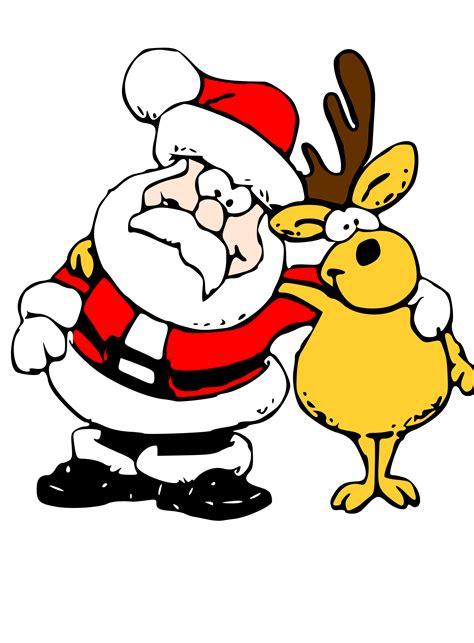 Clipart - Santa and Reindeer Free Clip Art Santa And Reindeer
