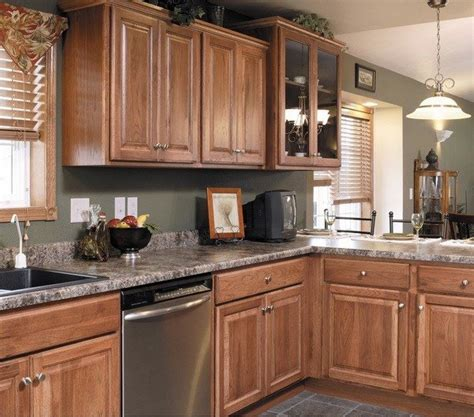 hickory cabinets design ideas granite countertop