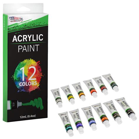 acrylic paint drying quickly us supply 174 12 12ml artist acrylic paint set