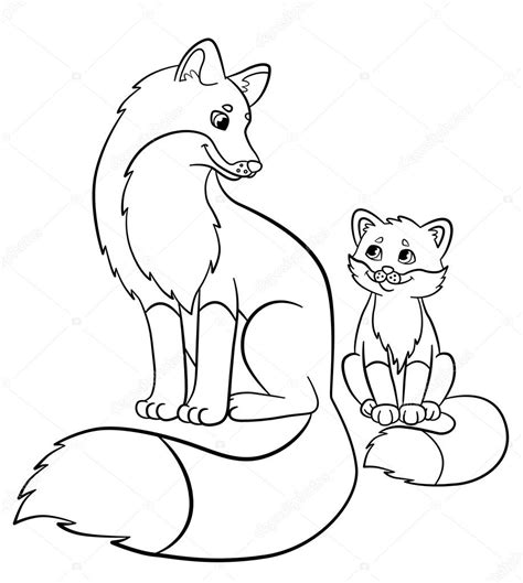 coloring pages of baby foxes cute fox coloring page image clipart images grig3 org