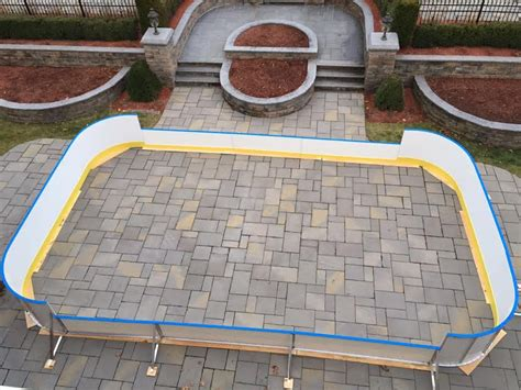 triyae backyard rink boards various design