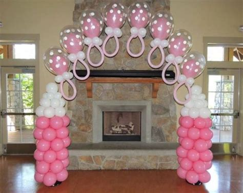 Pink And White Baby Shower Decorations by 23 Balloon Decorations For Baby Showers Shelterness