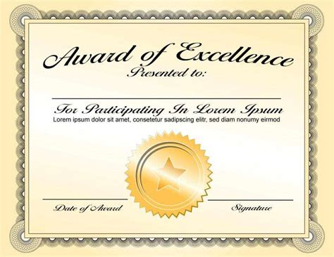 powerpoint award certificate template certificate templates october 2016