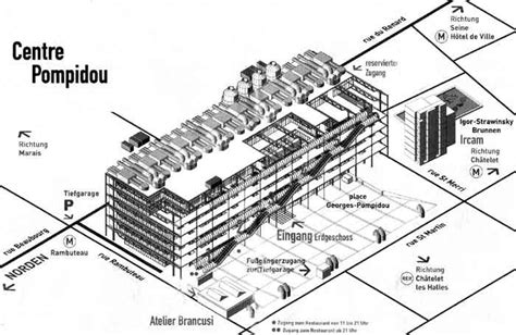 rogers centre floor plan pompidou centre plan 1971 1977 paris richard rogers and