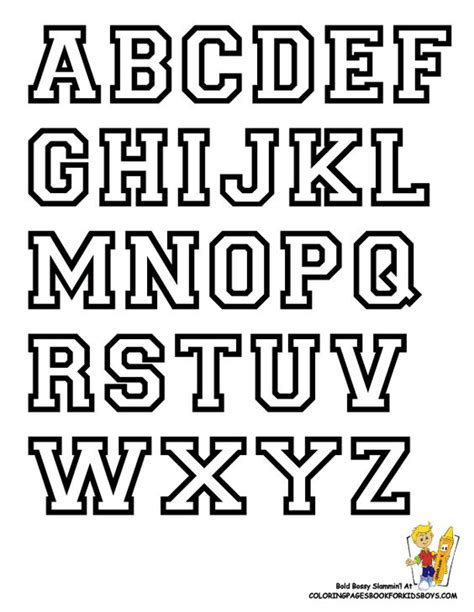 College Letter Font In Word Free Alphabet Letter Print Out College Alphabet Coloring College Sports Alphabet Free