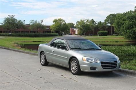 how petrol cars work 2006 chrysler sebring electronic valve timing find used 2006 chrysler sebring convertible gas saver nice fl vehicle no reserve auction in