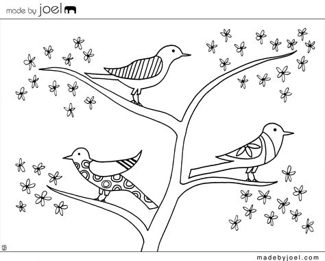 free coloring pages of trees and flowers made by joel