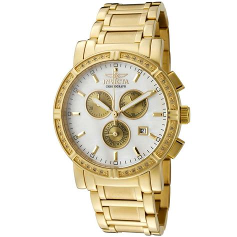 invicta 4743 men s mop gold tone steel bracelet