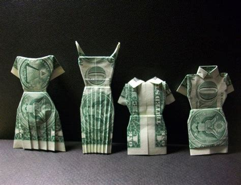 Money Dress Origami - dress money origami s clothes made of dollar bill