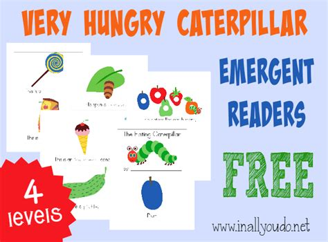 printable version of the very hungry caterpillar very hungry caterpillar emergent readers free printable