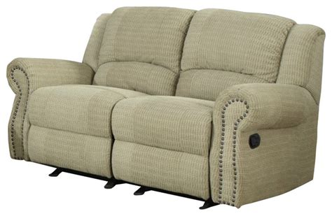glider reclining loveseat homelegance quinn double glider reclining loveseat in