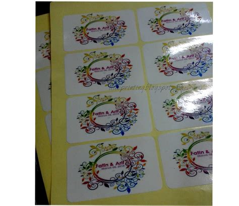 Printer Sticker Murah printing services sticker doorgift murah