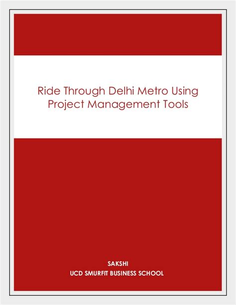 Smurfit Mba Login by Reserach Study On Delhi Metro Project