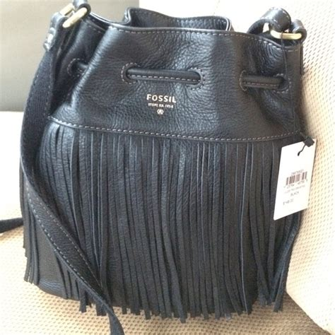 Fossil Minibag Black 40 fossil handbags sold fossil black mini bag