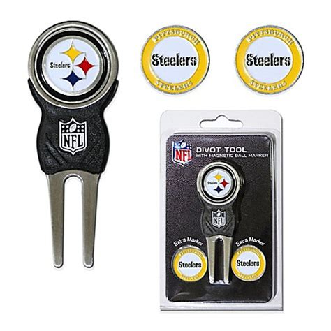 Steelers Bathroom Accessories Buy Nfl Pittsburgh Steelers Divot Tool With Markers Pack From Bed Bath Beyond