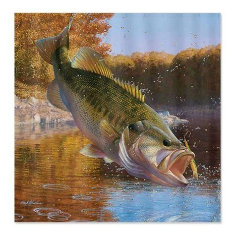 bass shower curtain pin by lori butler on gone fishing pinterest