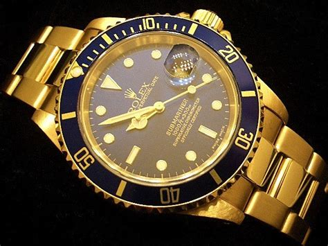 mens rolex submariner date solid 18k yellow gold w