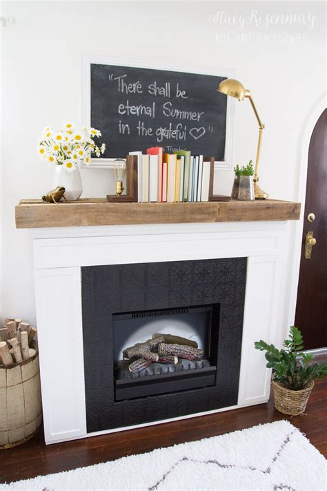 fireplace makeover written by stacy at not just a