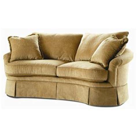 sofa with skirted base century elegance curved sofa with skirted base ahfa